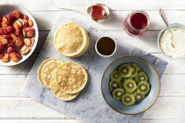 Foto van Pannenkoekjes met vers fruit