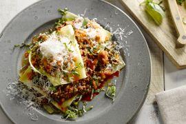 Foto van Snelle open lasagne