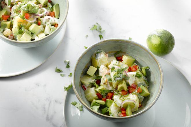 Aardappelsalade met avocado