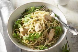 Foto van Spaghetti met tonijn en citroen