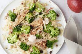 Foto van Pittig varkensvlees met broccolicouscous
