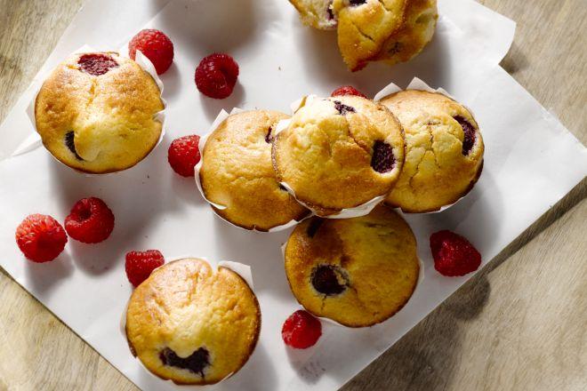 Frambozenmuffins
