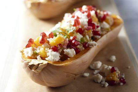 Gevulde flespompoen met quinoa