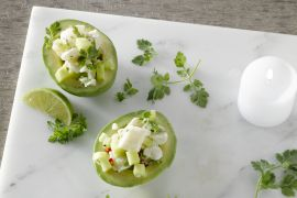 Foto van Gevulde avocado met ceviche