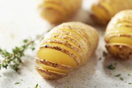 Foto van Hasselback aardappeltjes