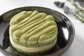 Foto van Tiramisu met matcha groene thee