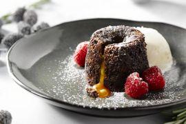 Foto van Chocolade moelleux met gezouten karamel
