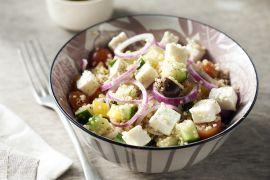 Foto van Griekse salade met quinoa