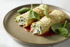Foto van Vegetarische lasagnerolletjes