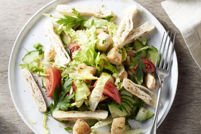 Salade fattoush met kip