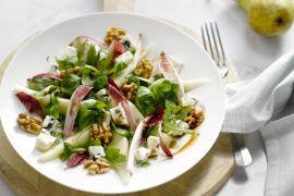 Foto van Salade met peer, walnoten en roquefort
