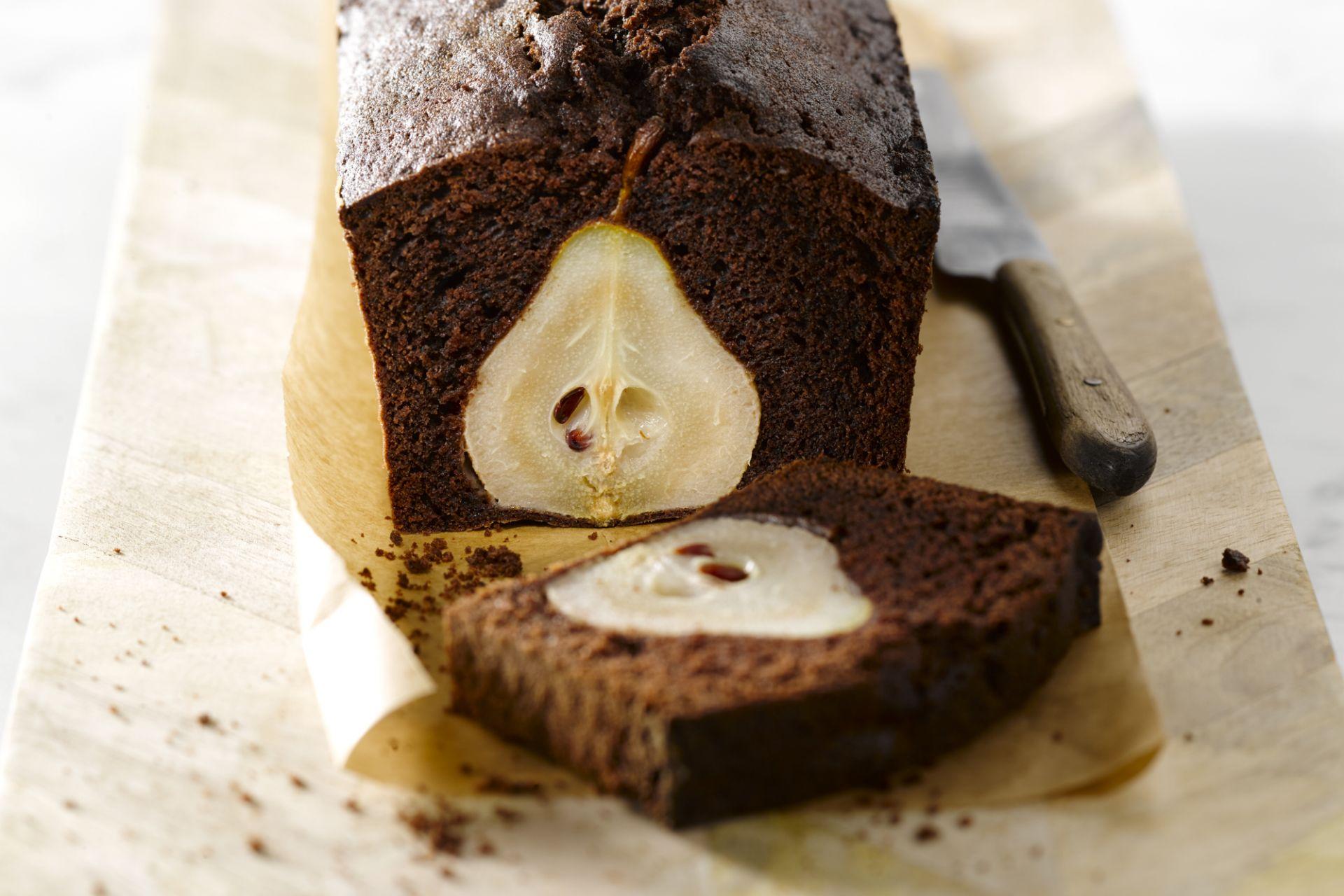 Chocoladecake met peren
