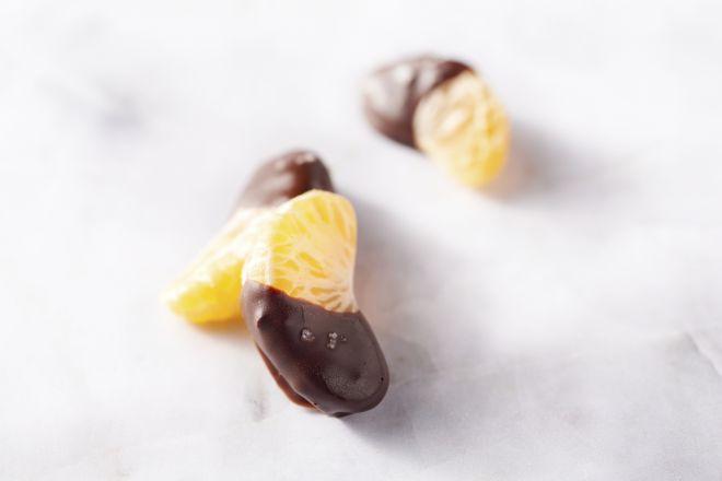 Chocolade clementines met fleur de sel