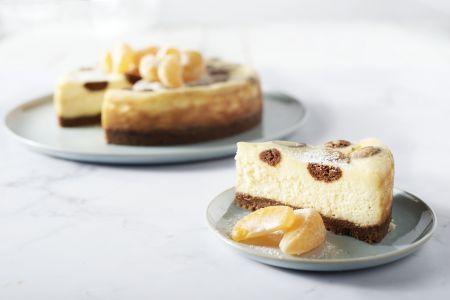 Cheesecake met kruidnoten en witte chocolade
