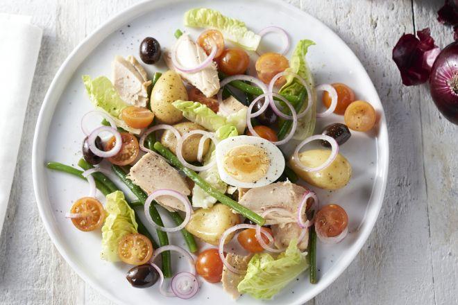 Lichte salade nicoise