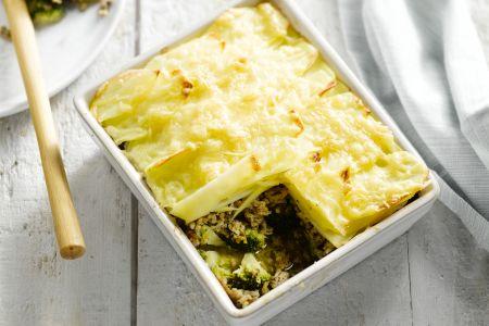 Ovenschotel met gehakt en broccoli