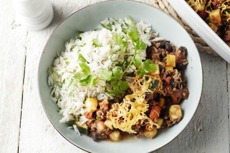 Mexicaanse ovenschotel met limoen-korianderrijst