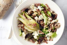 Foto van Salade met peer, roquefort en spek