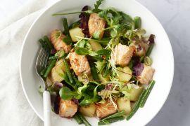 Foto van Salade met chili-limoen zalm