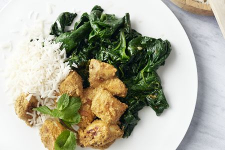Kip tandoori met spinazie en munt