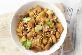 Foto van Massaman curry met kip