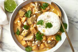 Foto van Massaman curry met rundsvlees en zoete aardappel