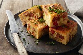 Foto van Tortilla met chorizo en paprika