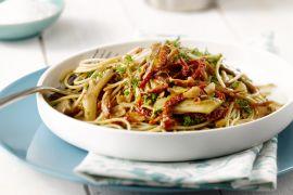 Foto van Spaghetti met oesterzwammen