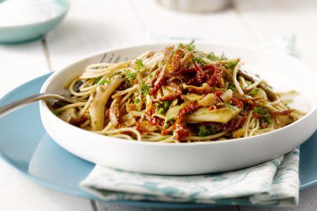 Spaghetti met oesterzwammen