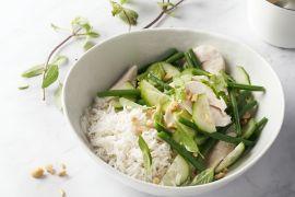 Foto van Kokoskip met Aziatische kruidensalade