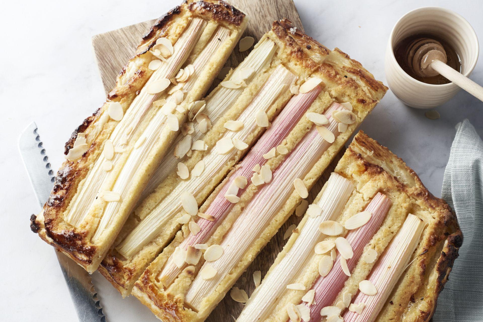 Rabarber-franchipane taart