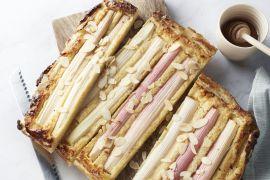 Foto van Rabarber-franchipane taart