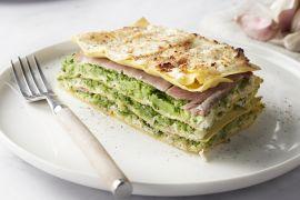 Foto van Lasagne met ham en broccoli