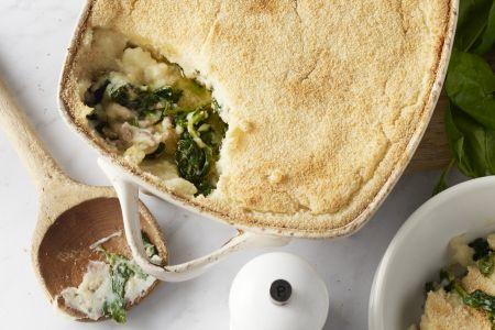Spinazie ovenschotel met gehakt en gorgonzola