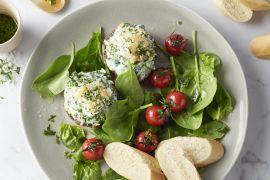 Foto van Gevulde portobello's met ricotta en een kruidenkorstje