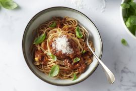 Foto van Spaghetti met veggie bolognaise