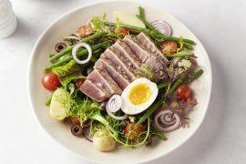 Foto van Salade Niçoise met verse tonijn