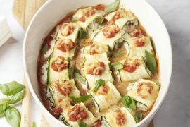 Foto van Lasagne van courgetterolletjes