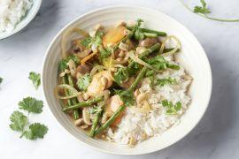 Foto van Veggie massaman curry met ovengroentjes