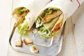 Foto van Caesar salade wraps met kip