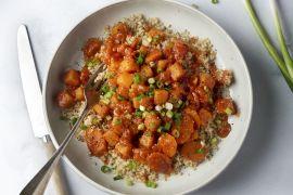 Foto van Stoofpot van wortel en pompoen met quinoa