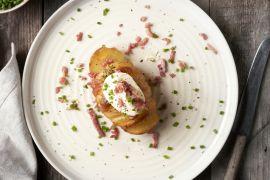 Foto van Gevulde hasselback aardappelen