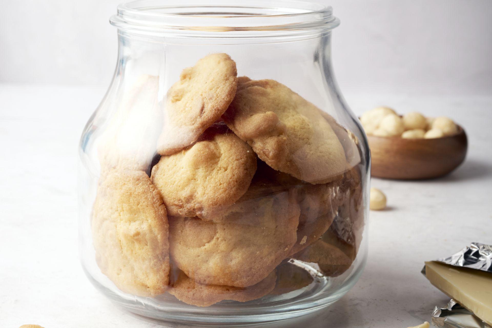 Koekjes met witte chocolade en macademia noten
