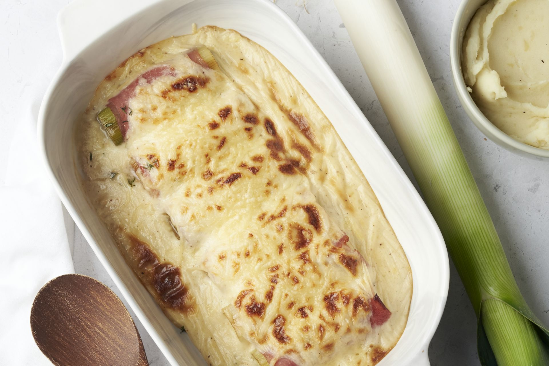 Preirolletjes met ham en kaas