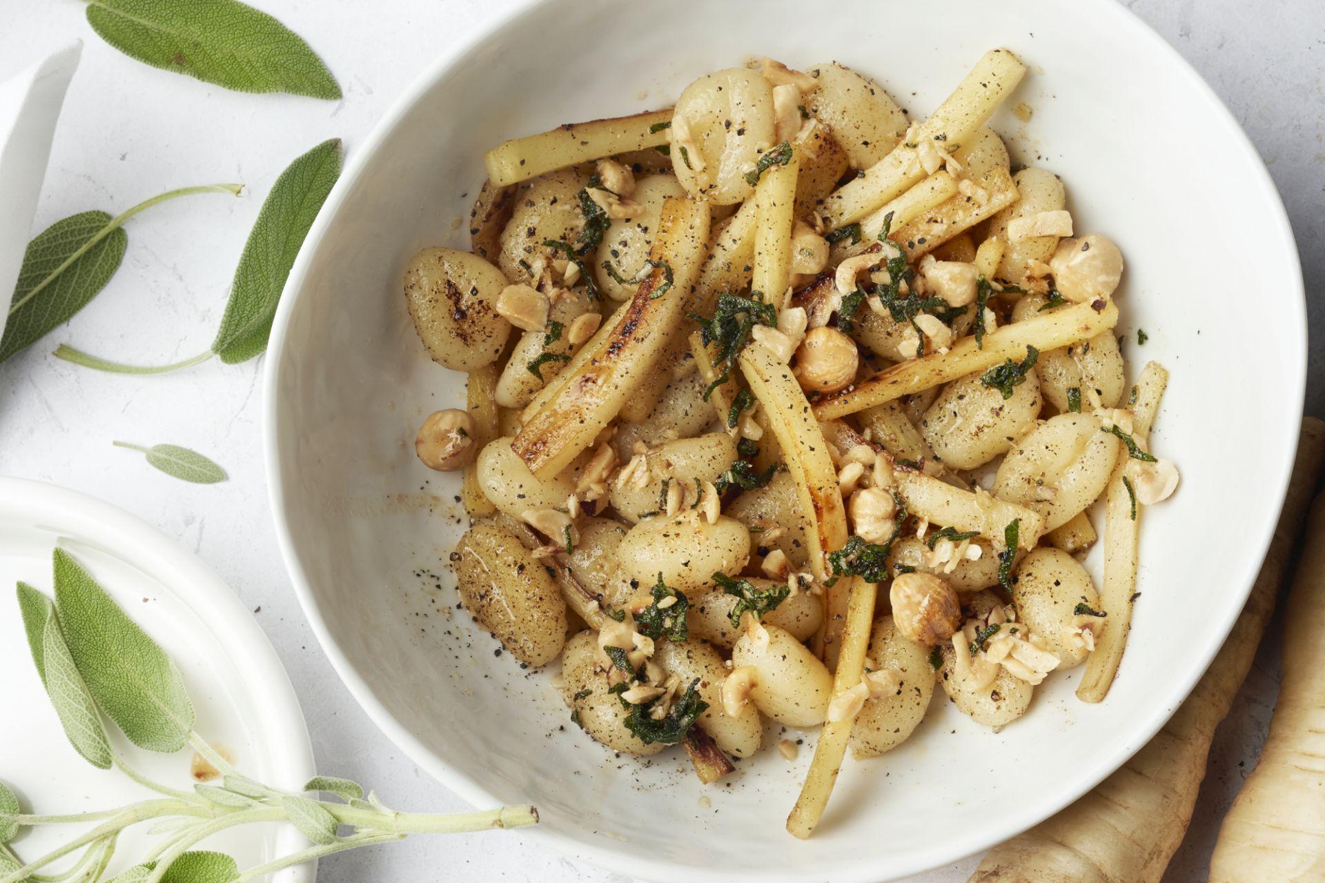 Gnocchi met pastinaak en beurre noisette