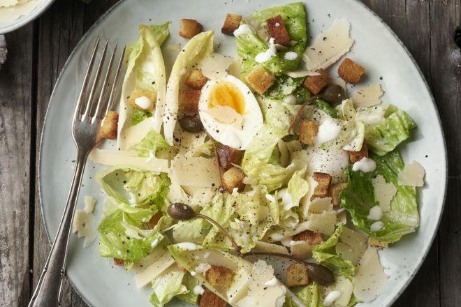 Caesar salade met witloof