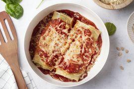 Foto van Cannelloni met ricotta en spinazie