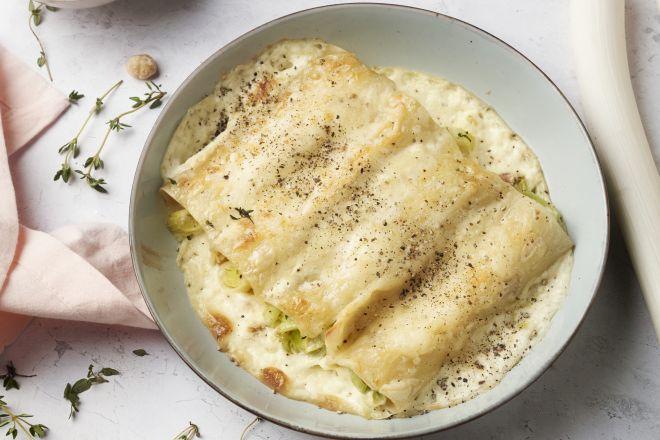 Cannelloni met prei en mascarpone
