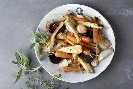 Foto van Geroosterde groentenschotel