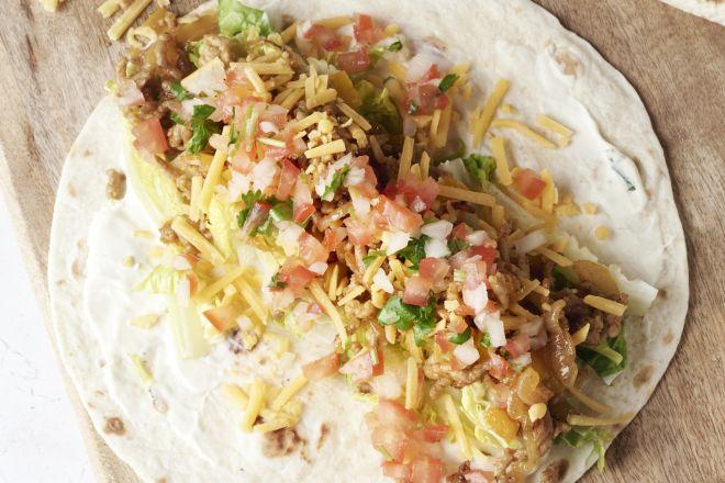 Taco's met gehakt en pico de gallo